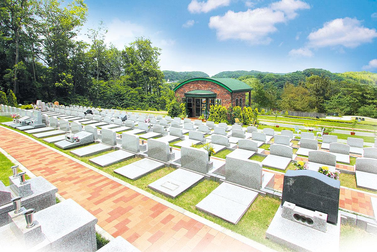 ゆとり付き墓地<span class='buried_with_pet'>(ペットと共に眠れる墓所)</span>